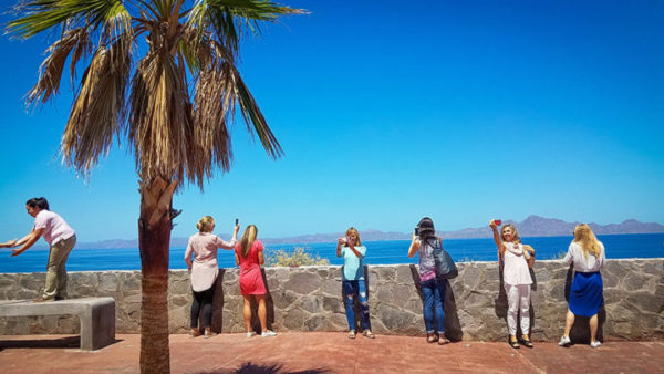 En route to our hotel we stop to enjoy the view of the Sea of Cortez and the islands of Loreto
