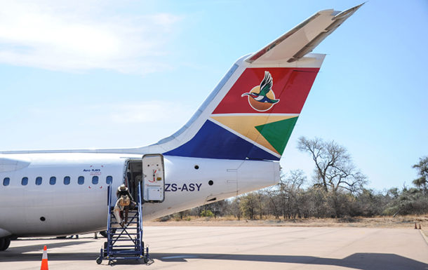 At Hoedspruit airport, Limpopo Province, South Africa