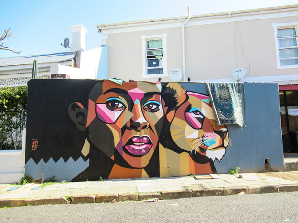 Street art in the Woodstock section of Cape Town