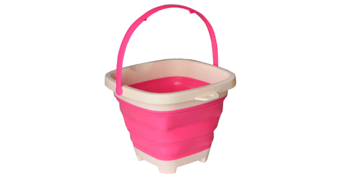 This collapsible beach bucket is easy to travel with