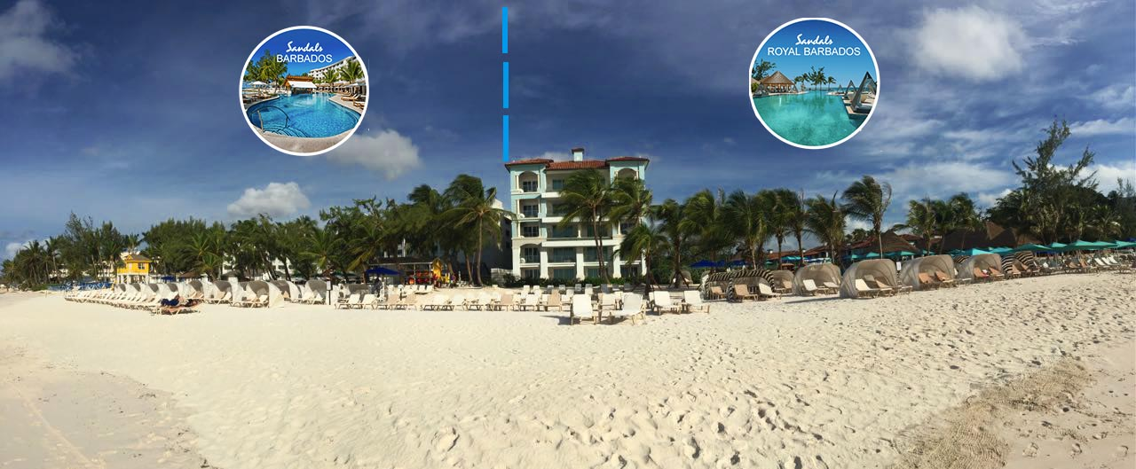 The two neighboring Sandals resorts