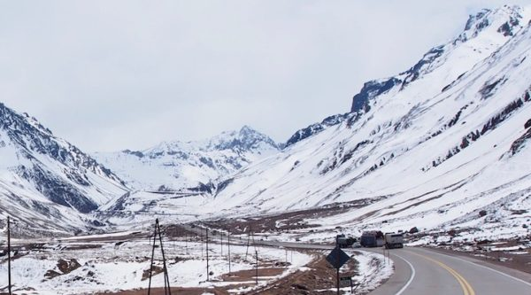 Into the Andes along Route 7