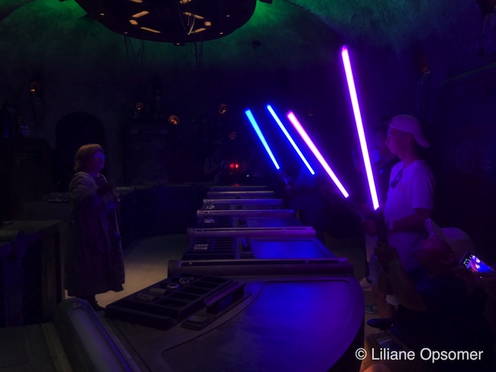 You can build your own lightsaber at Savi's Workshop at Star Wars: Galaxy's Edge