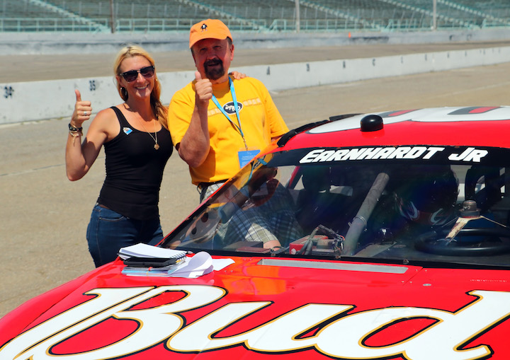 After a ride in the pace car at Myrtle Beach Speedway (Credit: Bill Rockwell)
