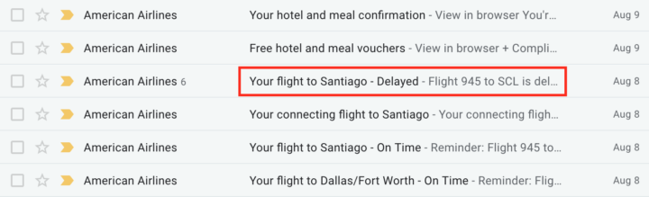 chase sapphire reserve trip delay