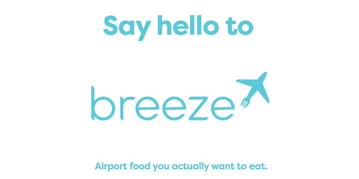 The new Breeze app helps you get healthy food at the airport